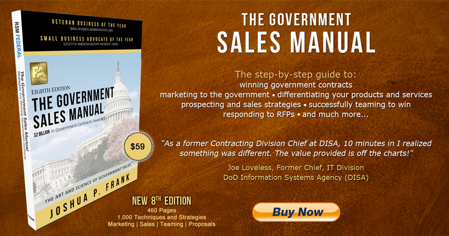 Book on Government Sales - How To Sell To The Government